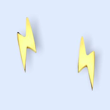 Gold Lightening Earrings