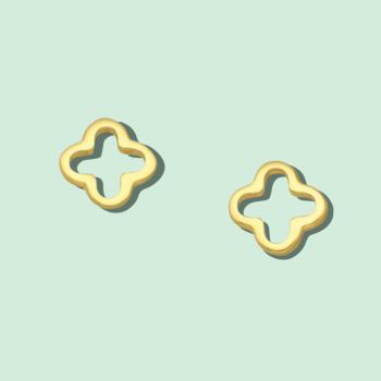 Golden Clover Earrings