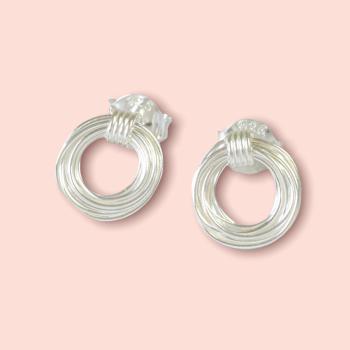 Silver Wire Coil Earrings