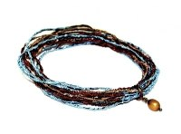 Light Blue and Brown Bracelet