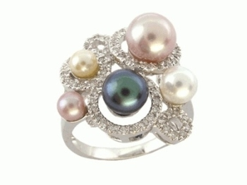 Multi Pearl Ring Diamond Ring