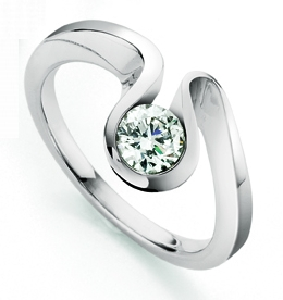 Rivoir Brilliant Cut Diamond Engagement Ring