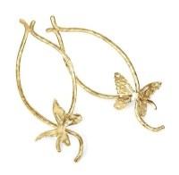 Twisted Butterfly Earrings