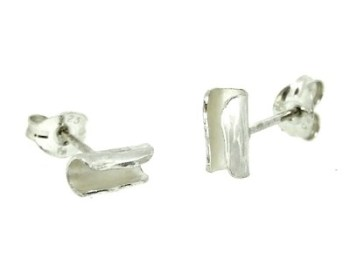 Silver Tube Earrings