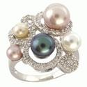 Multi Pearl Ring Diamond Ring