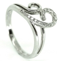 Double Loop Diamond Ring