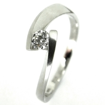 Tension Set Diamond Engagement Ring