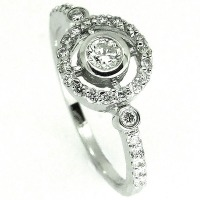 Diamond Target Engagement Ring