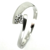 contemporary dainty tension set designer diamond enagegement ring Rivoir