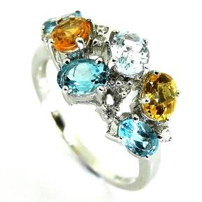 Citrine and Topaz Ring