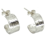 Dainty and Unusual Silver Glitter Hoops (extra small)