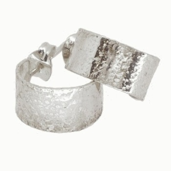 Silver Glitter Hoops (small)