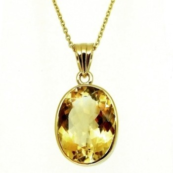 Gold Citrine Pendant:    50% OFF, WAS £125.00
