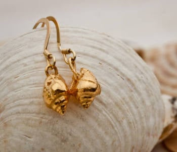 Gold Shell Earrings:   60% OFF, WAS £68.00