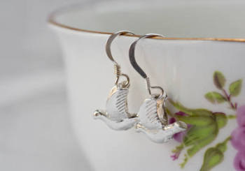 Silver Bird Earrings: 60% OFF, WAS £62.00