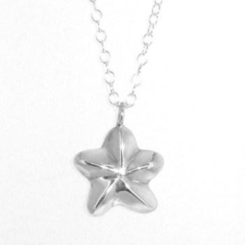 Silver Star Flower Pendant