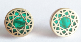 6. Gold Solitaire Studs