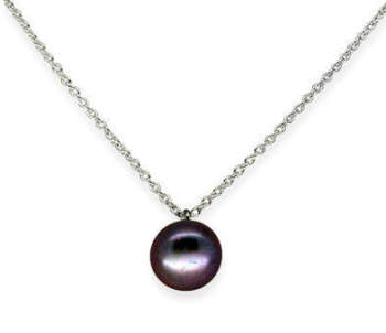 Single Pearl in Black Peacock Purple (medium)
