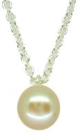 Single Pearl Pendant in White (es)