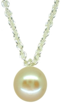 Single Pearl Pendant in White (es)