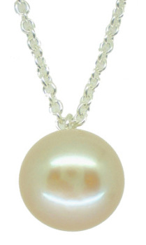 Single Pearl in White (lg)