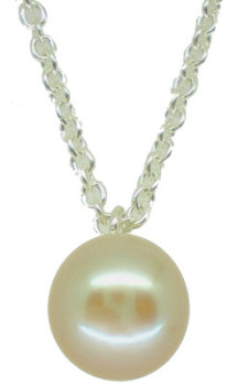 Small single white pearl pendant (sm)