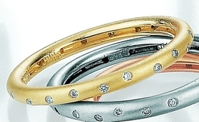 Yellow Gold Diamond Eternity Stack Ring