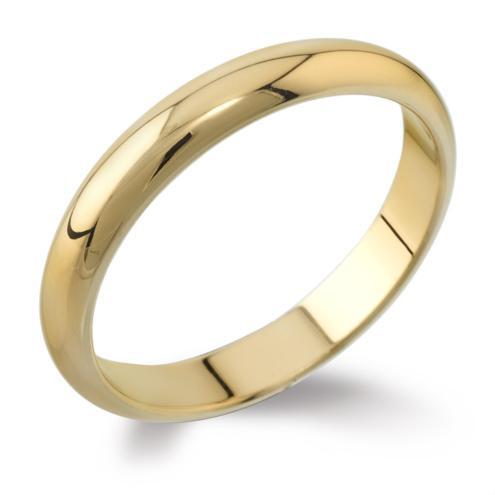 classic d shape wedding ring