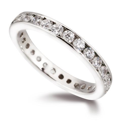 diamond set eternity rings
