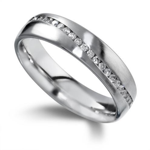 modern diamond wave eternity ring