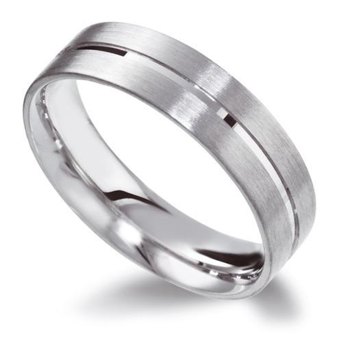 Groove Wedding Ring, white gold, handmade in London