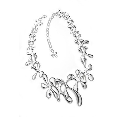 Large Silver Splat Necklace