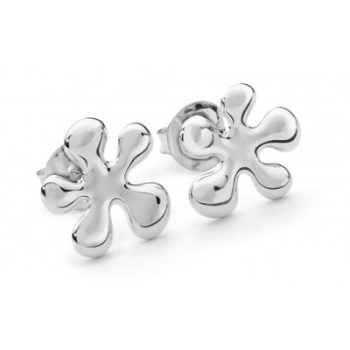 Silver Splat Earrings