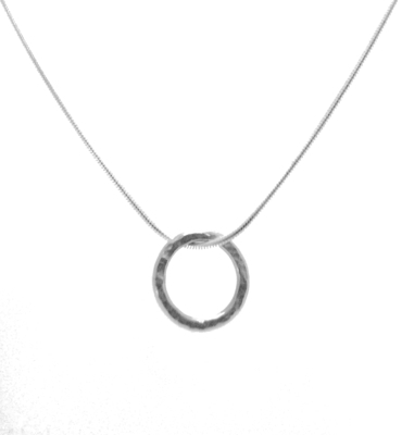 Vanilla Links Handmade Single Link Silver Necklace