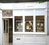 Nude Contemporay Jewellery, Mayfair Shop Front
