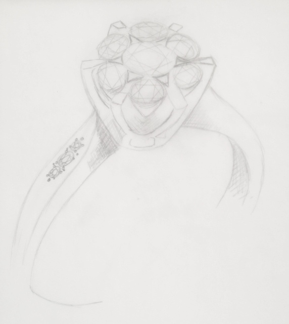 Bespoke Engagement Ring Sketch