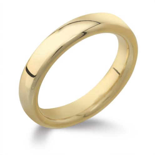yellow gold court handmade wedding ring