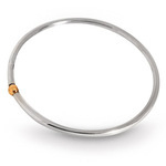 Modern Single Gold Ball Bangle