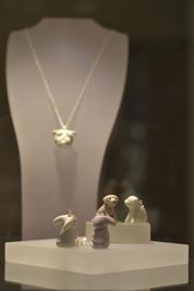 Porcelain Animal Pendants, Contemporay and handmade