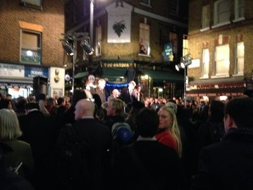 Shepherd Market, Mayfair, Christmas Light switch on