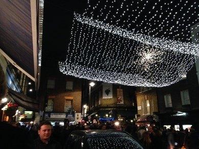 The Christmas Lights in Shepherd Market Mayfair