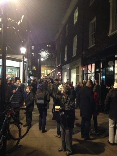 The crowds in Shepherd Market Mayfair