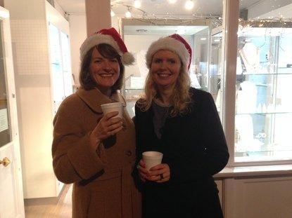 Nikki & Aimee outside Nude Jewellery, London