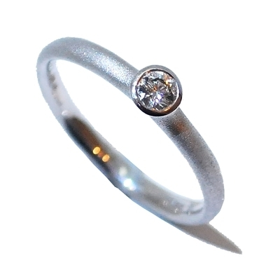 White Gold Frosted Diamond Ring