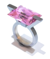 Ultra Pink Silver Ring