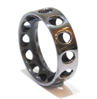 Industrial Mens Silver Ring