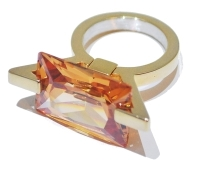 Ultimite Contemporary Gem Gold Ring