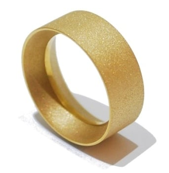 Frosted Gold Ring Unisex