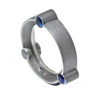 Three Blue Stone Orbital Ring