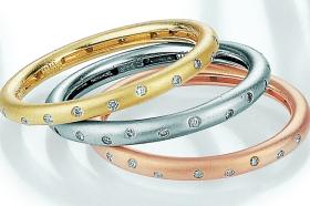 modern diamond set eternity rings
